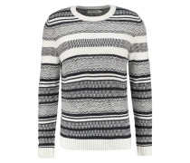 Strickpullover dark blue /offwhite