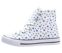 Sneaker high white/blue