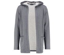 Sweatjacke mottled dark grey