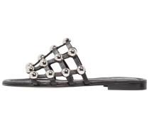 ELLE - Pantolette flach - black/silver