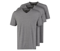 3 PACK - T-Shirt basic - dark grey melange
