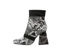 High Heel Stiefelette black/grey