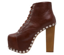 High Heel Stiefelette brown