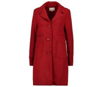 Wollmantel / klassischer Mantel dark red
