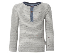 CABOT Langarmshirt light grey melange