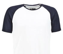 TShirt print white/dark blue
