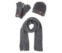 SET Fingerhandschuh dark grey melange