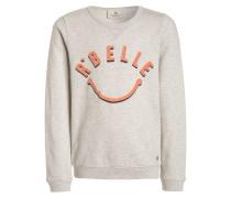 SMILEY Sweatshirt grey melange