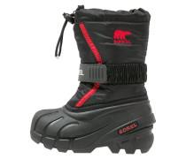 FLURRY - Snowboot / Winterstiefel - black/bright red