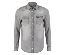 LEON Hemd grey denim