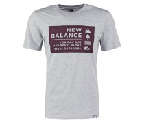 CAMP VIBES TShirt print athletic grey