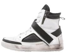 Sneaker high bianco/nero