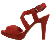 Plateausandalette red
