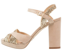 VANILLE Plateausandalette beige/or