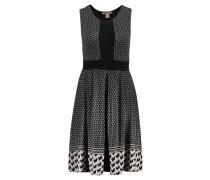 Jerseykleid - black/ taupe/ green