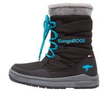 LORE - Snowboot / Winterstiefel - black/dark smaragd