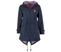 ISLAND FRIESE Regenjacke / wasserabweisende Jacke navy/lavender