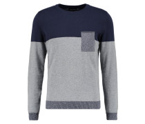 Strickpullover mottled grey/dark blue