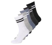 5 PACK Socken grey/white/black