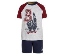SET - T-Shirt print - dunkelrot