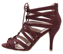 WINNS High Heel Sandaletten dark red