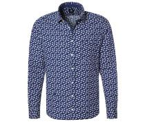 TAILLIERT Hemd dunkelblau