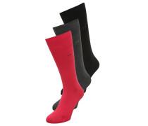 ERIC 3 PACK Socken red/graphite heather/black