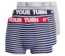 3 PACK Panties navy/red/grey/white