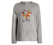 Langarmshirt medium grey heather