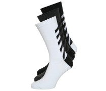 3 PACK Socken black/white