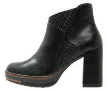 High Heel Stiefelette black antic