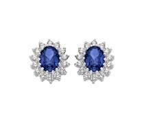 Ohrringe blau/silber
