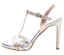 High Heel Sandaletten salmone/platino/argento