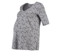 T-Shirt print - asphalt melange/grey