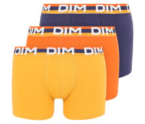 Panties orange feu/bleu nuit/jaune ambre
