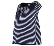 TShirt print navy white stripe