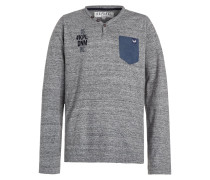 GAGE Langarmshirt grey melanged