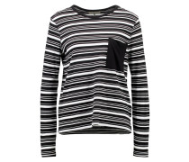 Langarmshirt black/white