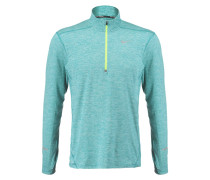 ELEMENT Langarmshirt teal charge/heather/volt/reflective silver