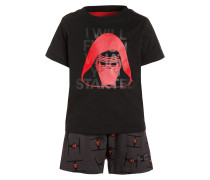 SET - kurze Sporthose - black/core red
