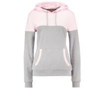 Sweatshirt light grey/coral/offwhite
