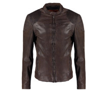 Lederjacke dark brown