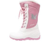 Snowboot / Winterstiefel - hellgrau/rosa