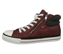 Sneaker high dark red