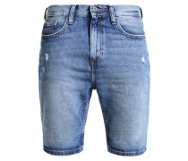 Jeans Shorts - mid blue destroy