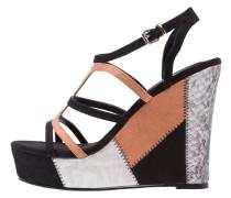 High Heel Sandaletten noir/camel