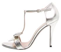 High Heel Sandaletten metal argento