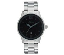 Uhr silberfarben/schwarz