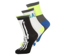 GLOW 3 PACK Socken true black