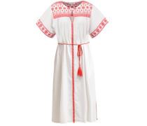 Freizeitkleid white/red